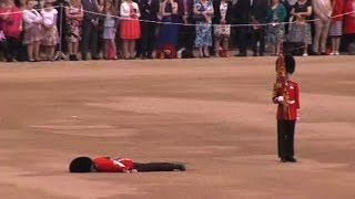 Guardsman collapses at Queen