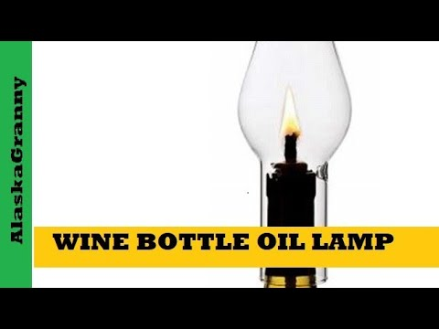 Make a Wine Bottle Oil Lamp
