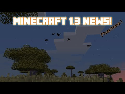 NEW PHANTOM MOB + ICEBERG BIOME! | Minecraft 1.3 News