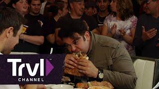 Man v. Food:  Stuffed Pizza Challenge