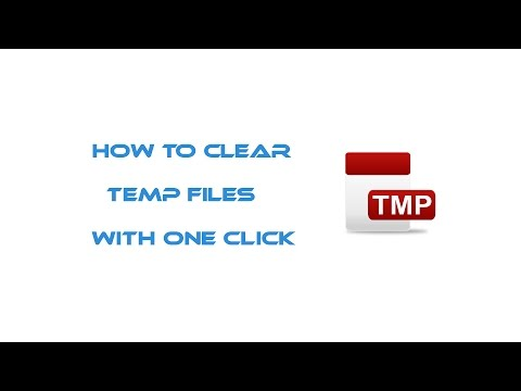 How to clear Temp Files With One Click