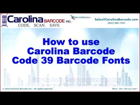 How to use Carolina Barcode's Code 39 Barcode Font
