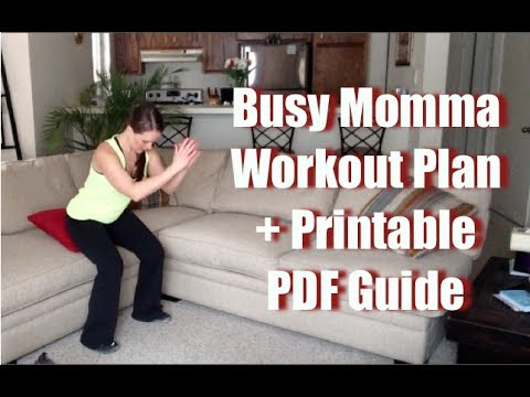 Workout For Busy Moms (moms working out)