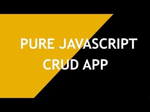 Javascript CRUD App part-1