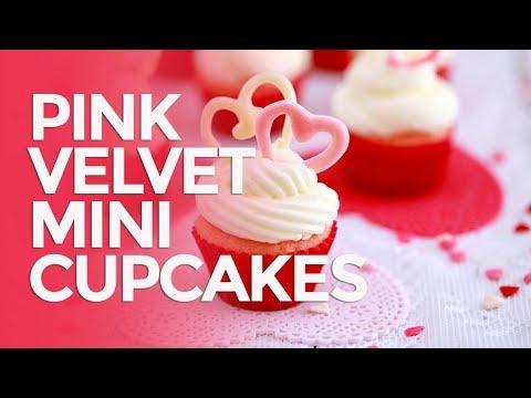 Pink Velvet Mini Cupcakes
