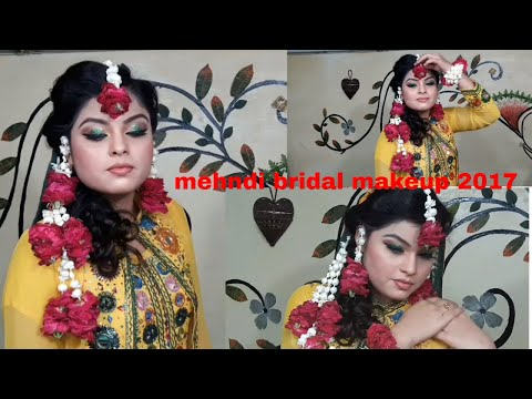 mehndi bridal makeup 2017  part2(nazia bilal)