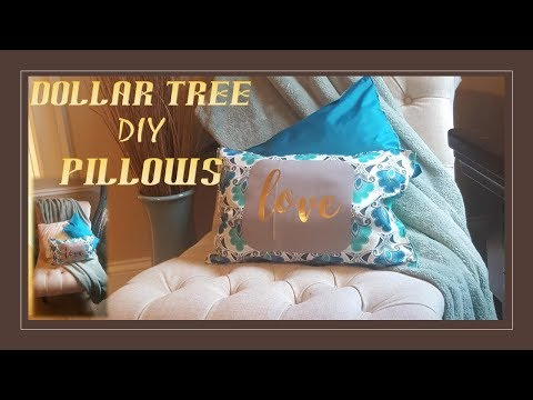 DIY | DOLLAR TREE | NO SEW PILLOWS! - How to make a pillow without sewing
