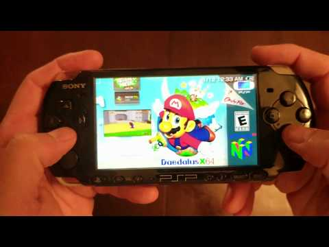 PSP and PSP Go Softmod CFW and NES, SNES, N64, Atari emulator install