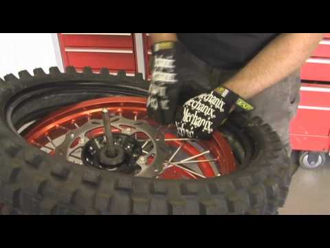 Motocross Tire Change. Jay Clark and Dunlop Tires.