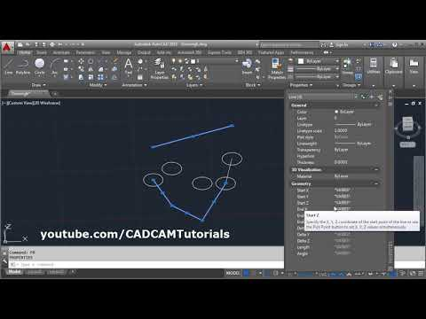 AutoCAD Move All Lines to Z 0 | Move All Lines to 0 Elevation
