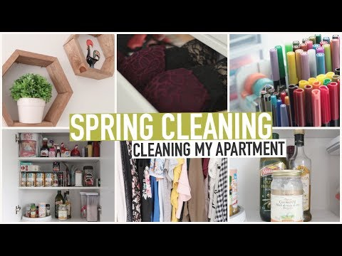SPRING CLEANING |  CLEANING & ORGANIZING MY APARTMENT