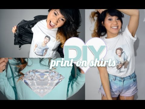 DIY ♥ How To Print Your Own T-Shirts & Sweatshirts At Home!