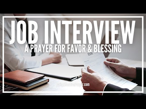 Prayer For Job Interview - God Is With You