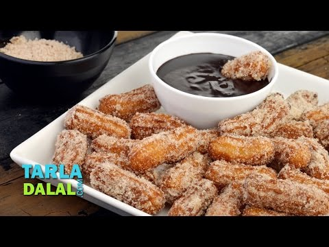 Churros/How to Make Famous Mexican Sweet/ Easy Breakfast Recipe by Tarla Dalal