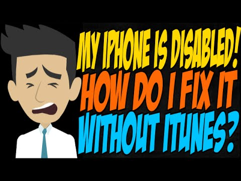 My iPhone is Disabled! How Do I Fix it Without iTunes?