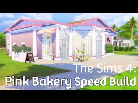 The Sims 4: Retail Building Pink Bakery/Restaurant