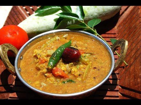 Pudalangai sambar | Snake gourd moong dal sambar