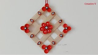 DIY / Quilling Paper Wall Hanging /  Popsicle Sticks / Home Decor / Tutorial