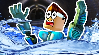 DROWNING IN THE DARK! - Roblox Flood Escape - New Update + Maps!