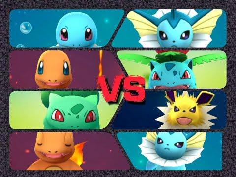 Pokémon GO Gym Battles Level 4 Gym Bulbasaur Charmander Squirtle Ivysaur Jolteon & more