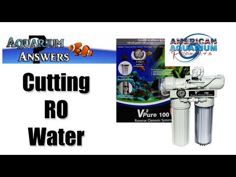 Using RO Water In Freshwater Aquarium- Cutting With RO or RO/DI