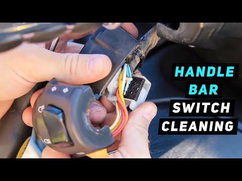 Turn Signal / Headlight Switch Disassembly & Cleaning Procedure Part 1 - 07+ Suzuki Burgman 400
