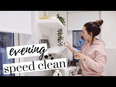 RELAXING NIGHT TIME CLEANING ROUTINE | EVENING CLEANING ROUTINE