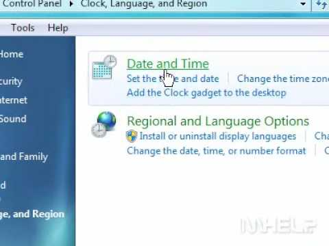 How to set the time and date in Windows 7
