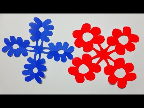 How to make Easy paper cutting Flowers? paper cutting Design DIY Kirigami Tutorials step by step