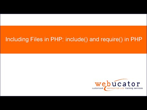 Including Files in PHP: include() and require() in PHP