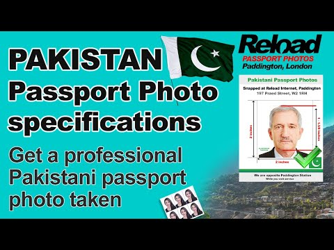 Get your Pakistani Passport Photos and Pakistani Visa Photos snapped in London