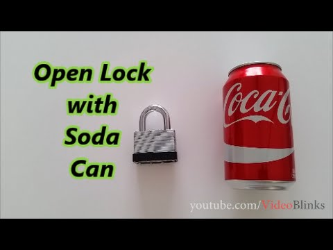 Open Lock with Soda Can