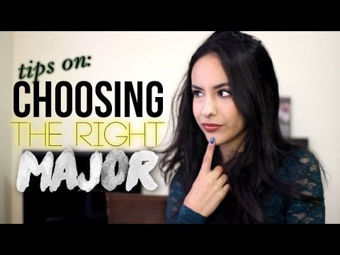 Tips on Choosing the Right College Major! College Talk #1
