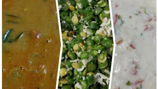Lunch Combo - Mullangi masala kuzhambu/ beans poriyal/ coconut thayir pachadi by Revathy Shanmugam