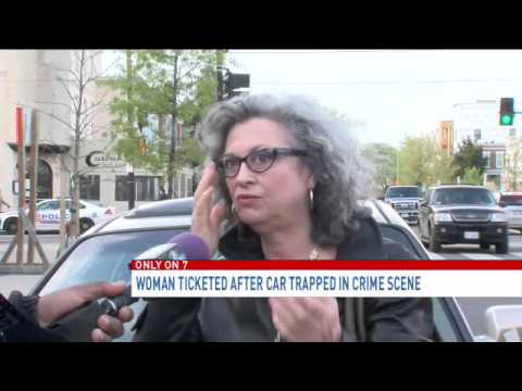 Md. woman gets parking ticket while her car is trapped at D.C. crime scene