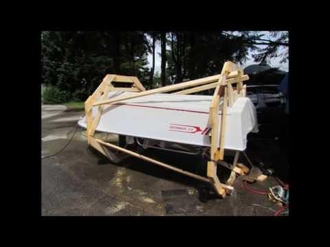 Rolling the Mandy Lynn to make hull repairs May 23,2014