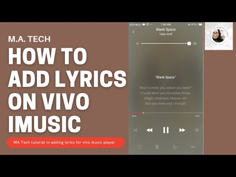 Vivo Y53: How to ADD LYRICS for songs in your Vivo Smartphone iMusic