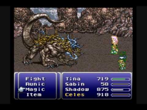 Final fantasy VI Low Level + Natural Magic Users Only Challenge: Ultima (Atma) Weapon