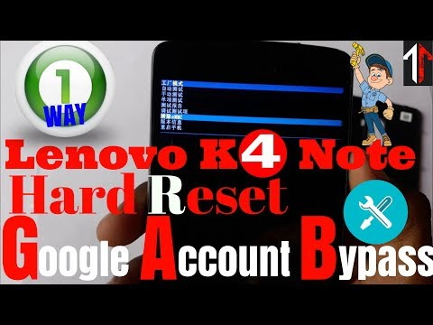 Lenovo K4 Note A7010A48 Hard Reset and Google Account Bypass | by Technical Tips