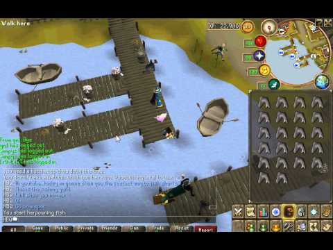 Runescape- Best way to fish sharks (fishing guild)