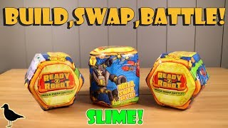 Ready 2 Robot Mystery Toys Opening! Slime! Fun Toy Surprises | Birdpoo Reviews
