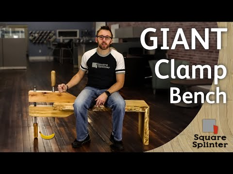 GIANT Woodworking Clamp Bench | Waterfall Live Edge Design