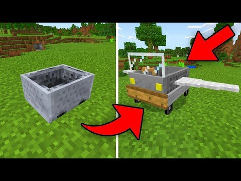 How to UPGRADE Your Minecart in Minecraft! (Minecraft PE Vehicles Addon)