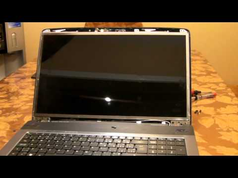 Laptop screen replacement / How to replace laptop screen Acer Aspire 7740G-6969.mp4