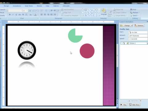 Create an animated clock in PowerPoint
