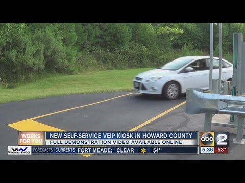 New emissions kiosk in Howard County