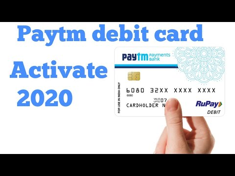 Paytm debit card activate 2018 | paytm debit card apply | paytm debit card order | paytm debit card