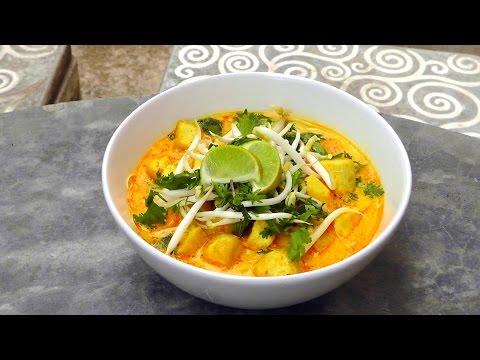 Malaysian Laksa Curry Soup -  Vegan Vegetarian Recipe