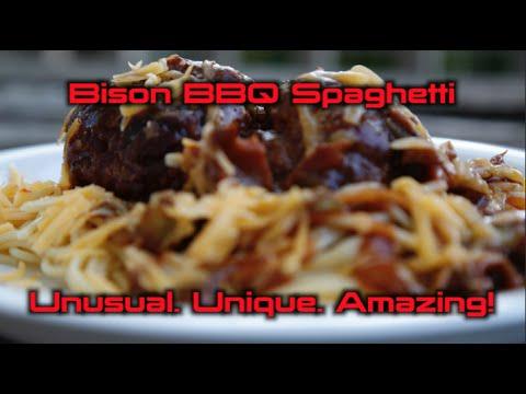 Bison BBQ Spaghetti. Unusual. Unique. Amazing!