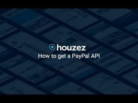 Houzez - How to get a PayPal API
